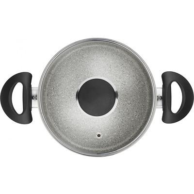 Ballarini - Ferrara Garnek granitowy z 2 uchwytami i pokrywką, 20 cm