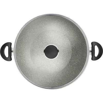 Ballarini - Ferrara Wok granitowy z dwoma uchwytami i pokrywką, 36cm
