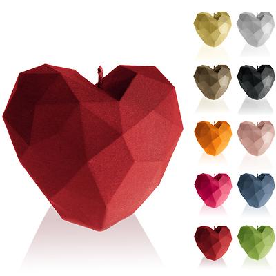 Candellana - Heart Low Poly, świeca dekoracyjna czerwona