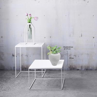 Concrette - Flowerpot Cone Large, doniczka/osłonka betonowa biała
