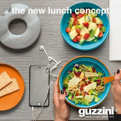 Guzzini - On The Go Lunch Box Vitality z wkładem chłodzącym