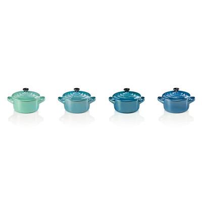 Le Creuset - Zestaw mini naczyń do zapiekania Metallics Niebiesko-Zielony