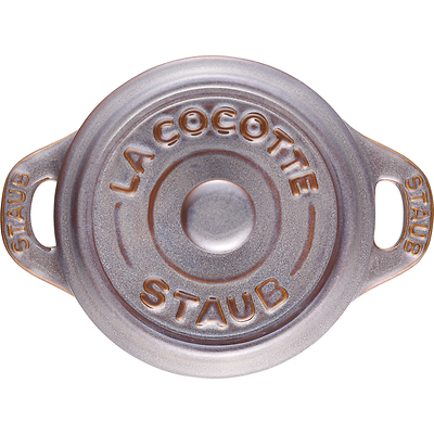 Staub -  Mini Cocotte okrągły 10 cm, antyczny grafitowy