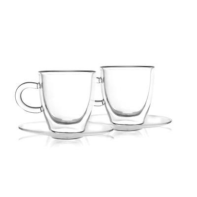 Vialli Design - Amo Zestaw 2 filiżanek do espresso z podwójną ścianką
