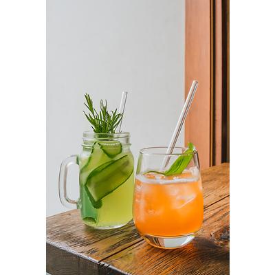 Vialli Design - Słomki szklane transparentne, 6 szt.