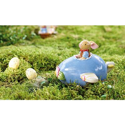 Villeroy & Boch - Bunny Family Figurka porcelanowa zajączek w samolocie