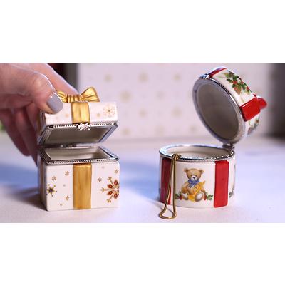 """Villeroy & Boch - Christmas Toys Szkatułka """"Okrągły prezencik"""""""