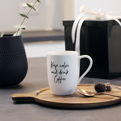"""Villeroy & Boch - Statement Kubek """"Keep calm and drink coffee"""""""