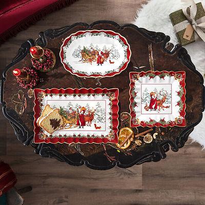 Villeroy & Boch - Toy's Fantasy duża owalna miska, św. Mikołaj z saniami