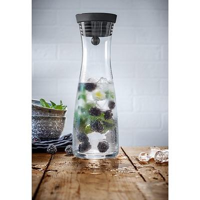 WMF - Basic  Karafka do wody czarna 1,0 l z dwoma szklankami