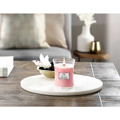 WoodWick - Świeca średnia Melon & Pink Quartz