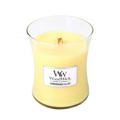 WoodWick - Świeca średnia Lemongrass & Lily