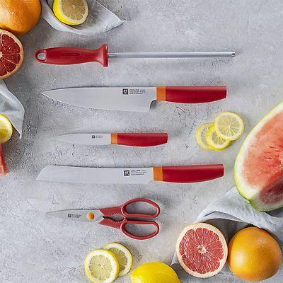 Zwilling - Now S zestaw noży w bloku, czerwone