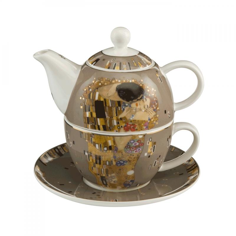 """Goebel - Gustav Klimt ,,Pocałunek"""" zestaw herbaty dla jednej osoby"""