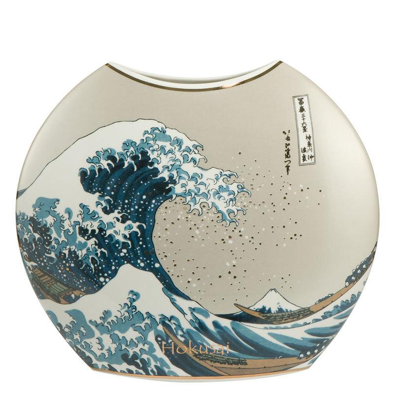 """Goebel - Hokusai Katsushika ,,Wielka Fala w Kanagawie"""" wazon"""