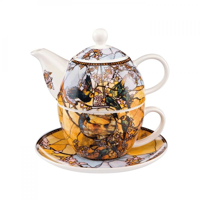 "Goebel - Louis Comfort Tiffany  ""Papużki"" zestaw do herbaty"