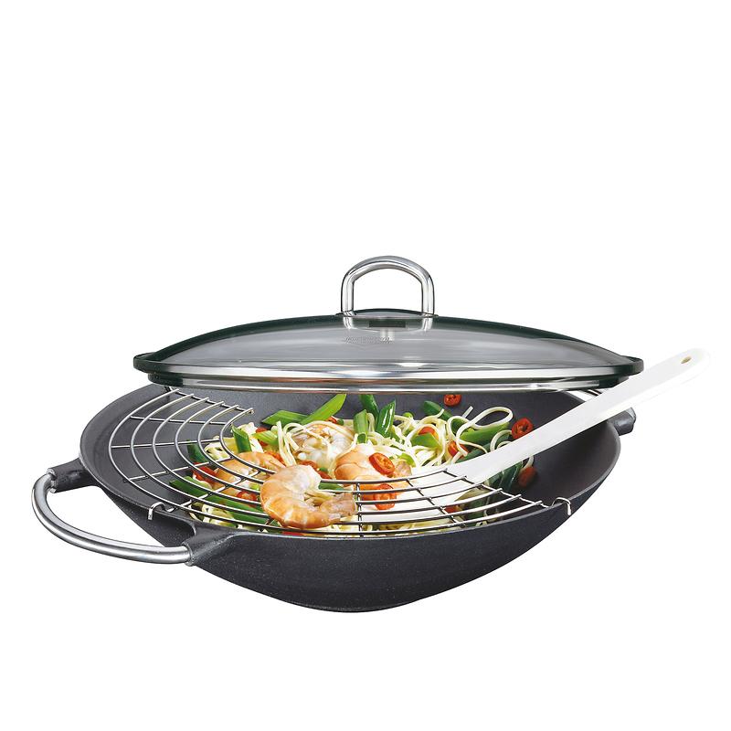 Küchenprofi - Premium  wok żeliwny z rusztem