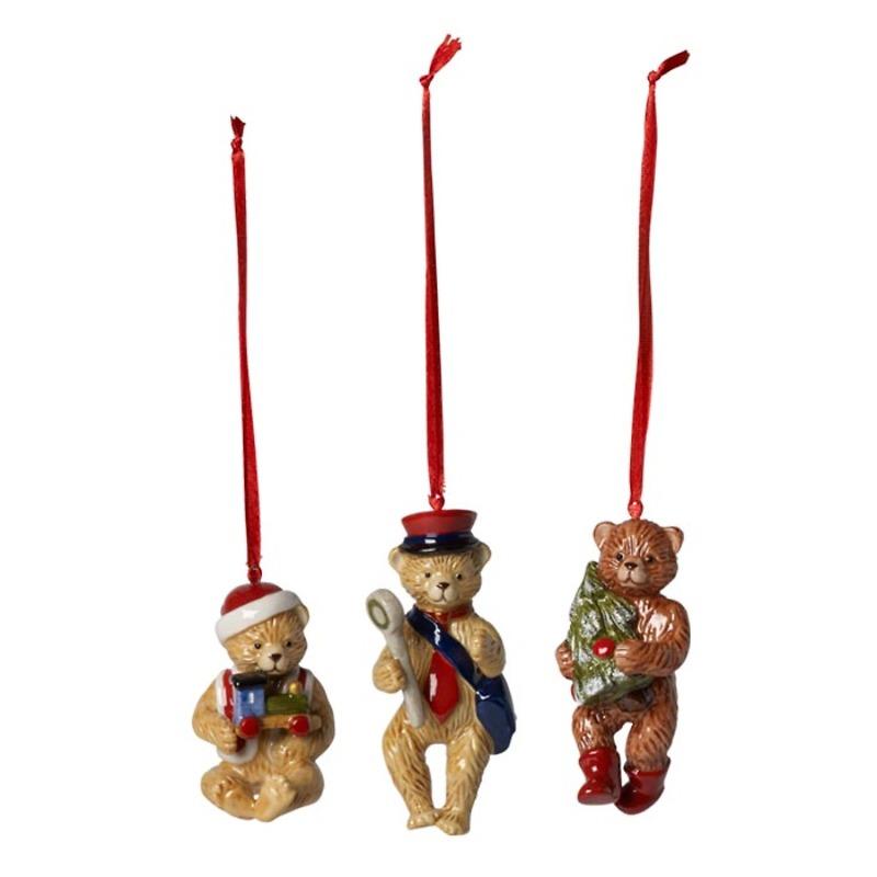 Villeroy & Boch - Nostalgic Ornaments Komplet 3 zawieszek Misie