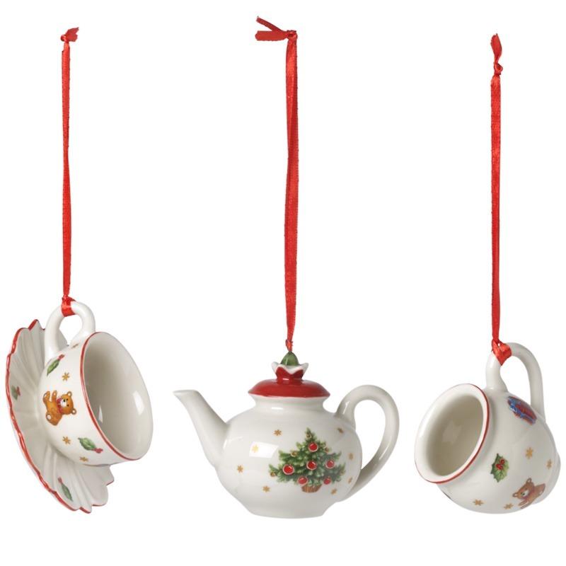 Villeroy & Boch - Nostalgic Ornaments Komplet 3 zawieszek serwis kawowy