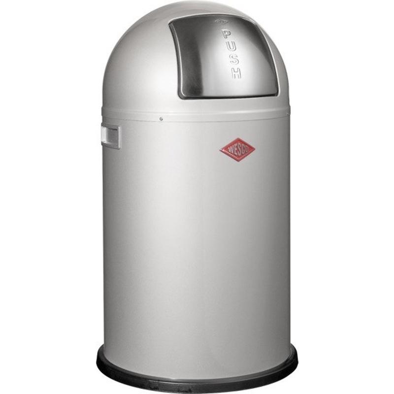 Wesco - Pushboy Junior kosz na śmieci, srebrny