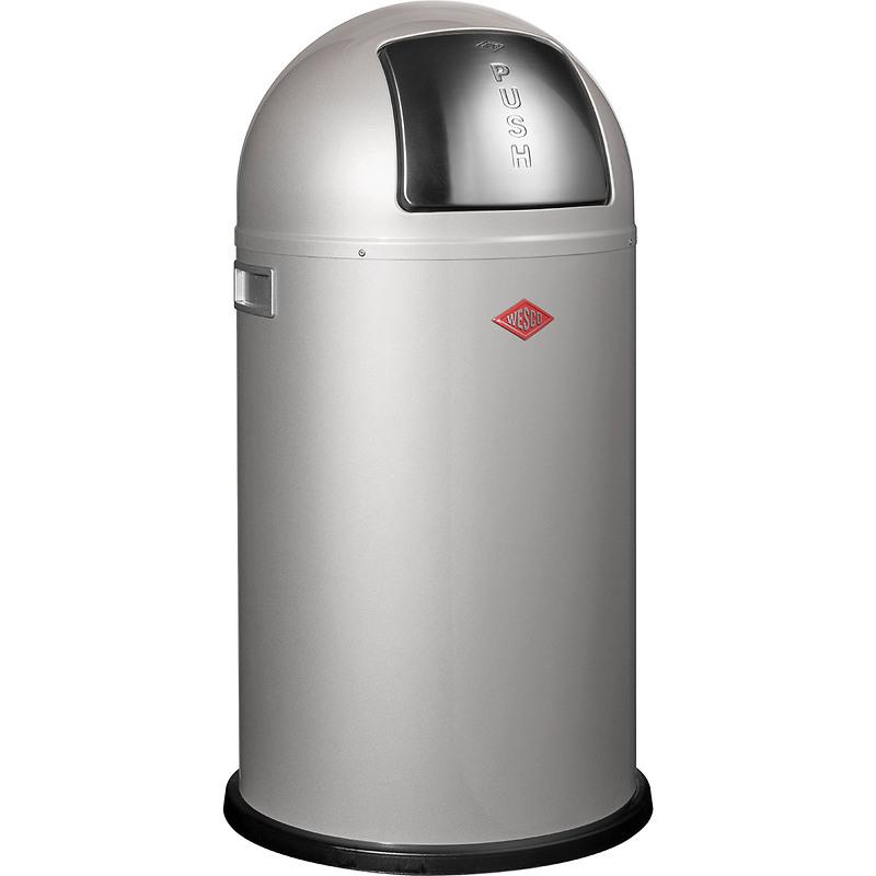 Wesco - Pushboy kosz na śmieci, srebrny