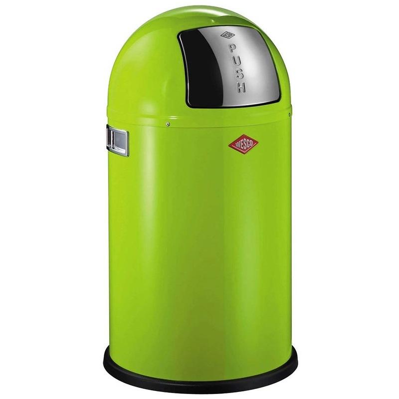 Wesco - Pushboy kosz na śmieci, zielony