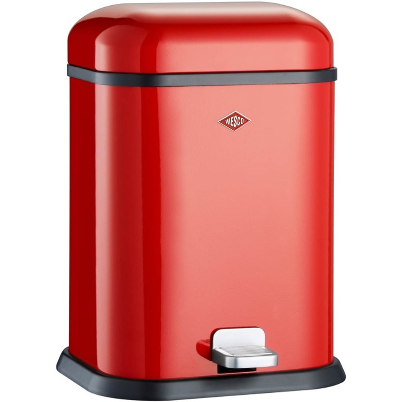Wesco - Single Boy kosz na śmieci, czerwony