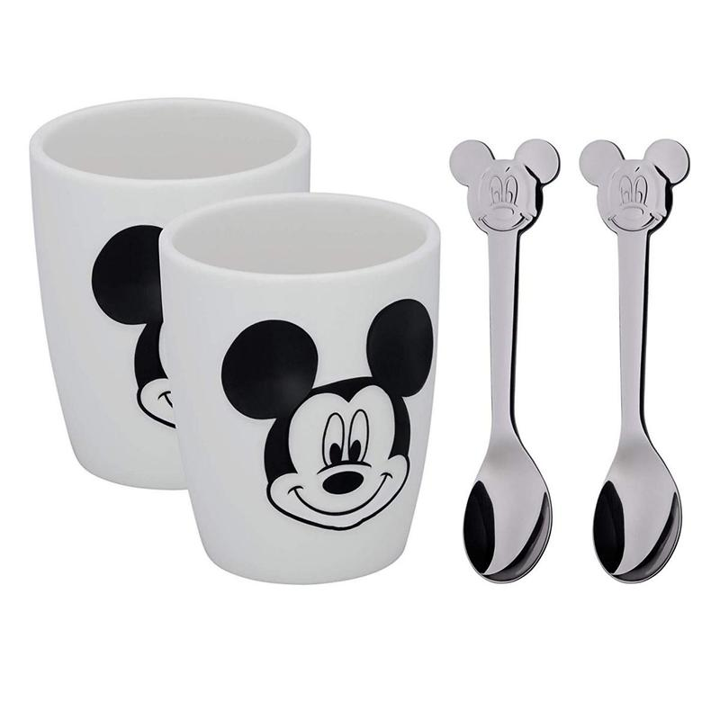 WMF - Mickey Mouse zestaw dwóch kubków i łyżeczek