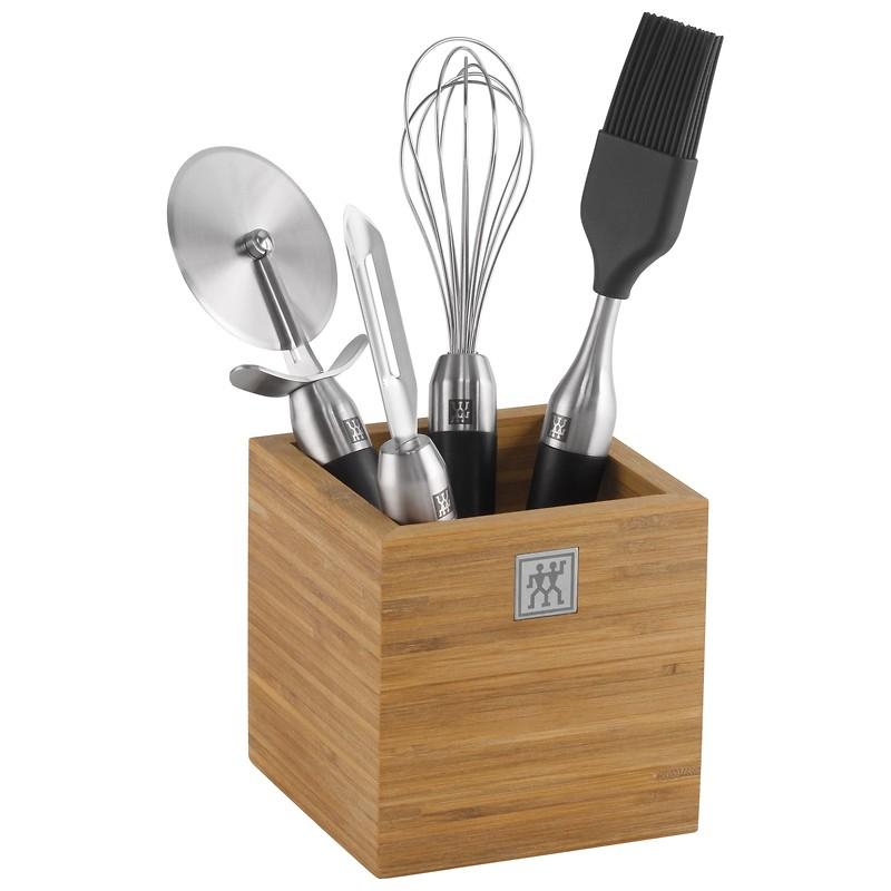 Zwilling - TWIN Pure Black Zestaw narzędzi kuchennych z przybornikiem