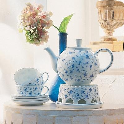 Arzberg - Form 1382 Blaublüten Zestaw do herbaty dla 6 osób