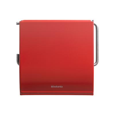Brabantia - Classic uchwyt na papier toaletowy, czerwony