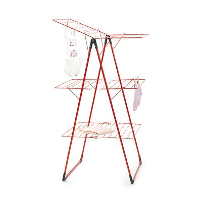 Brabantia - Suszarka na pranie składana trzy poziomy, czerwona