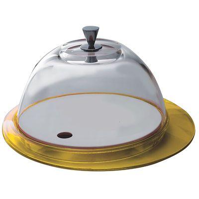 Bugatti - Glamour patera ze szklaną pokrywą, żółta