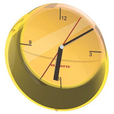 Bugatti - Glamour zegar ścienny, żółty