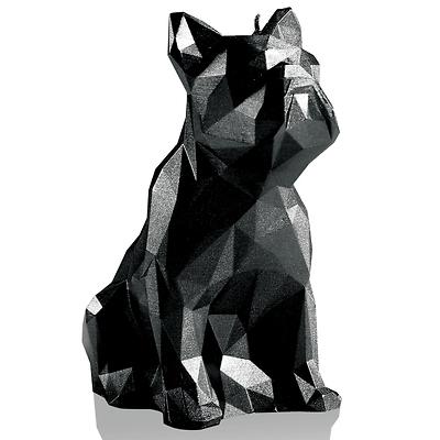 Candellana - Bulldog Low Poly, świeca dekoracyjna czarna