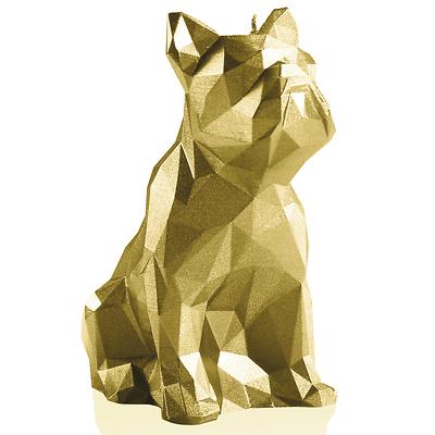 Candellana - Bulldog Low Poly, świeca dekoracyjna złota