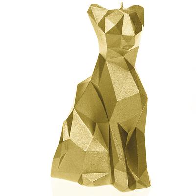 Candellana - Cat Low Poly, świeca dekoracyjna złota
