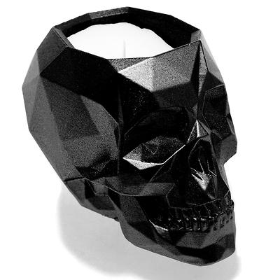 Candellana - Concrete Scented Candle Skull, świeca zapachowa czarna