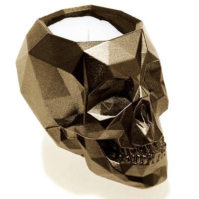 Candellana - Concrete Scented Candle Skull, świeca zapachowa mosiężna