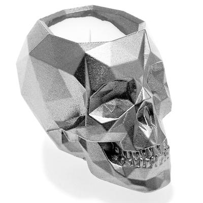 Candellana - Concrete Scented Candle Skull, świeca zapachowa srebrna