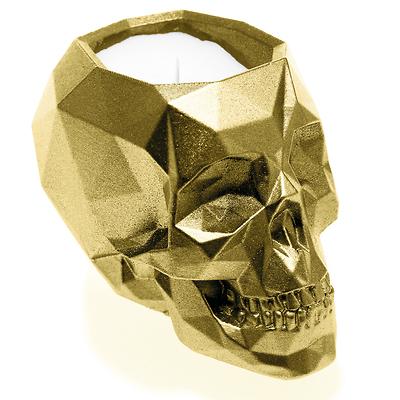 Candellana - Concrete Scented Candle Skull, świeca zapachowa złota