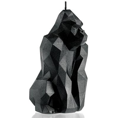 Candellana - Gorilla Low Poly, świeca dekoracyjna czarna