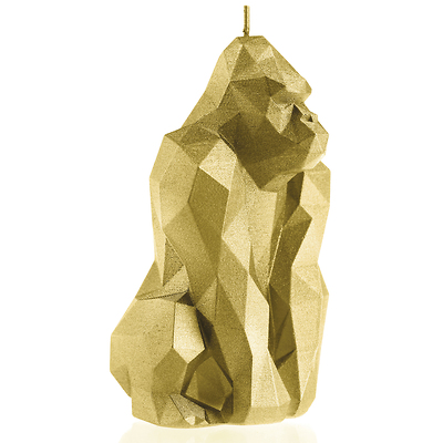 Candellana - Gorilla Low Poly, świeca dekoracyjna złota