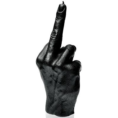Candellana - Hand FCK, świeca dekoracyjna czarna