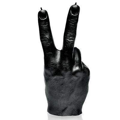 Candellana - Hand Peace, świeca dekoracyjna czarna