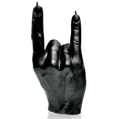 Candellana - Hand RCK, świeca dekoracyjna czarna