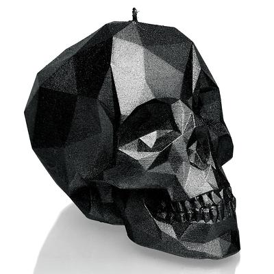 Candellana - Skull Low Poly Small, świeca dekoracyjna czarna