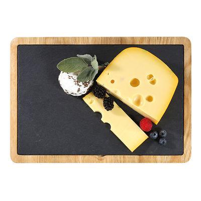 Cilio - Formaggio Talerz do serwowania sera z dębową podkładką