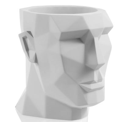 Concrette - Flowerpot Apollo XXl, doniczka/osłonka betonowa biała