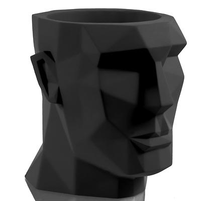 Concrette - Flowerpot Apollo XXl, doniczka/osłonka betonowa czarny mat